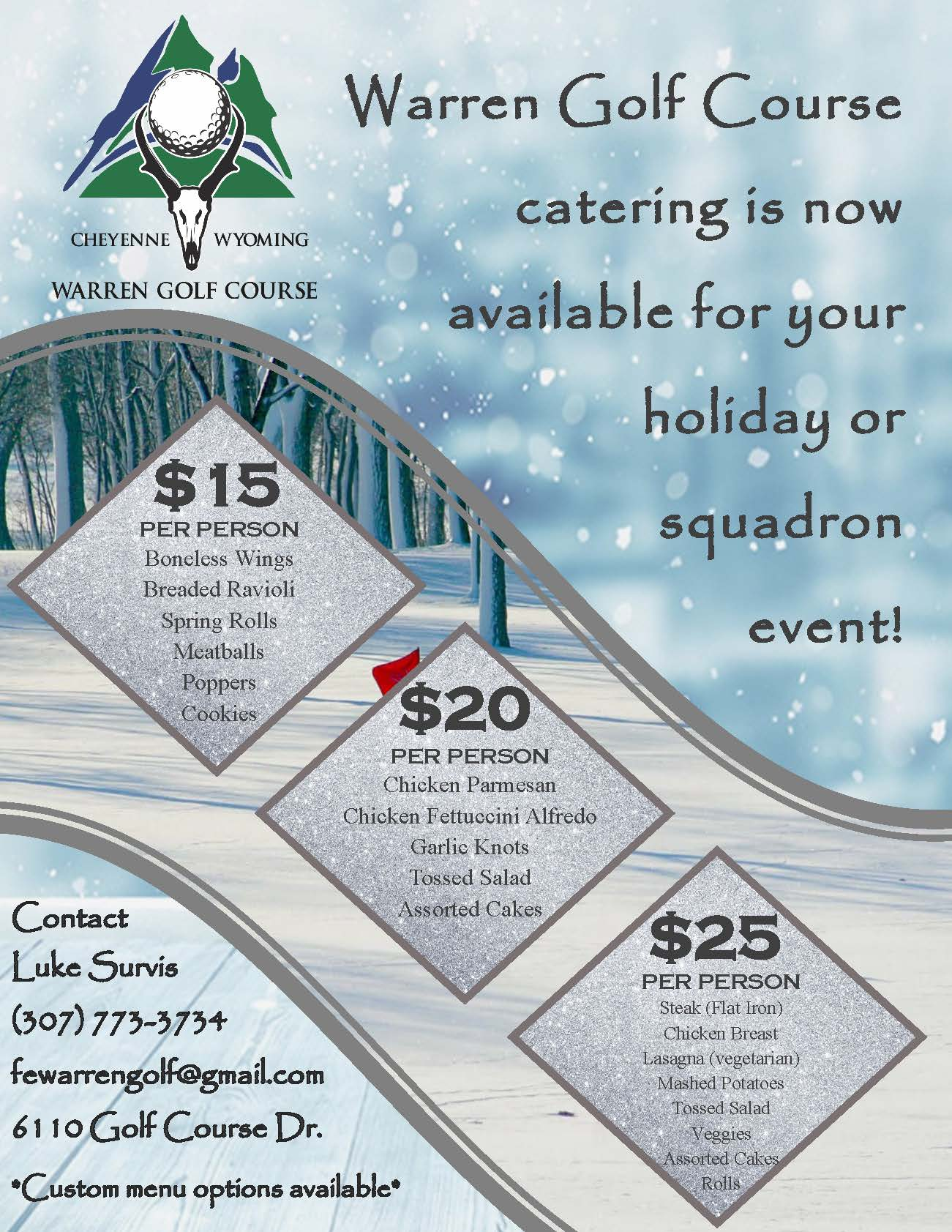 , Golf Course Catering