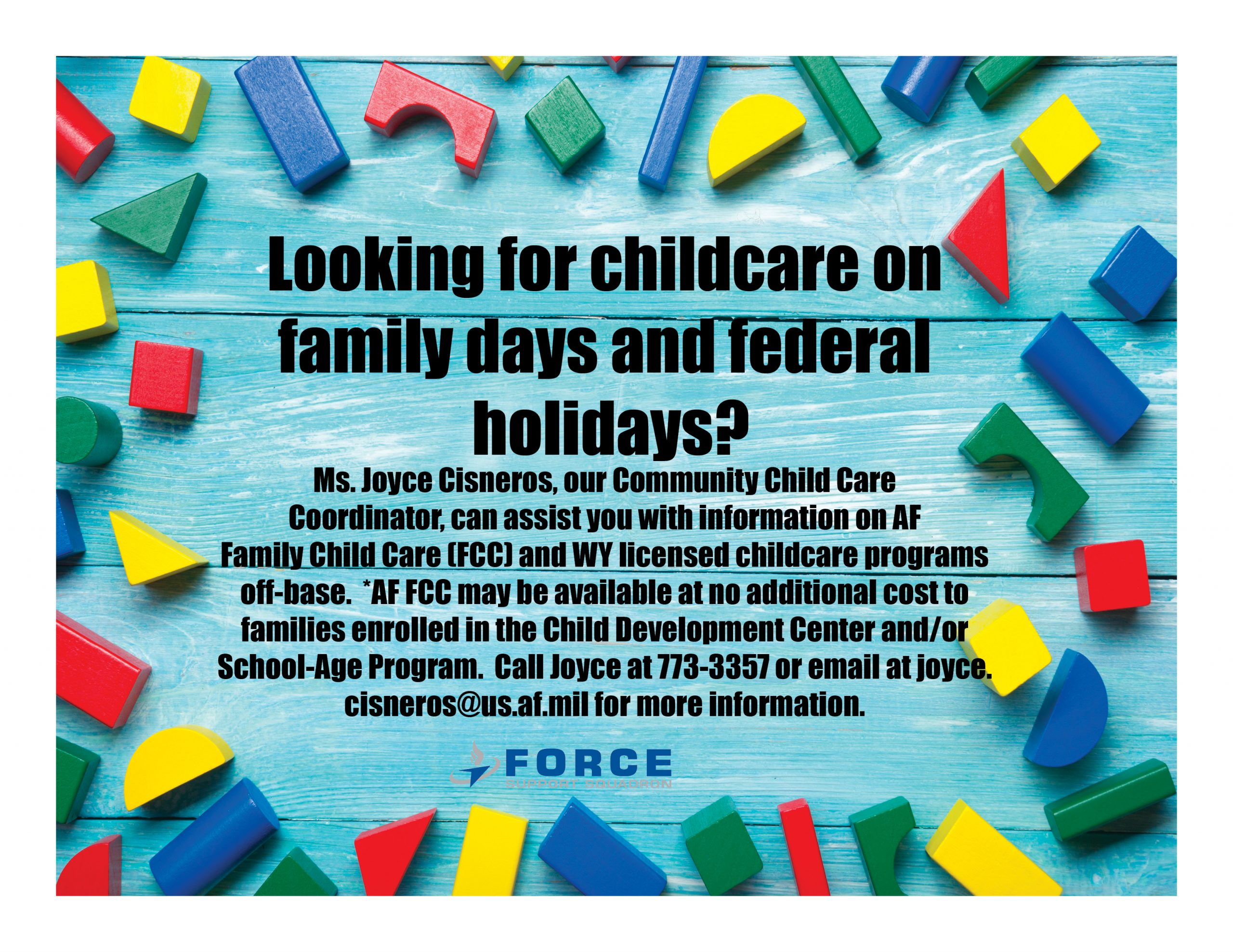 , Federal Holiday and Family Day Childcare
