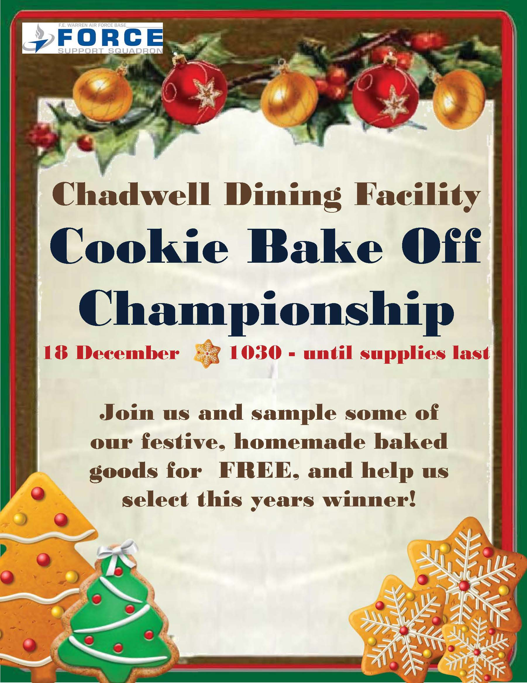 , Cookie Bake Off Championship